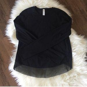lululemon athletica Tops - Lululemon Quick Pace Long Sleeve Shirt in Black